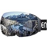 Enkeeo Skibrillen Abnehmbare Dual-Layer Anti-Fog Linse