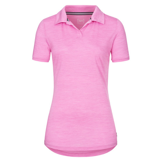 Super Natural Everyday Halbarm Polo pink