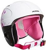 Alpina Kinder Skihelm Carat L.E., White-Pink Matt, 48 - 52