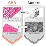 GHB 5Pcs Yoga Socken mit Gummisohlen Baumwolle Sportsocken Atmungsaktivität ideal für Yoga Pilates Tanz Fitness von Größe 36 bis 40 - 6