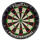 Kings Dart Sisal Bristle Professional Dartscheibe, 44,5 cm