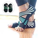 Lacyie rutschfeste Yoga-Socken für Damen, aus Baumwolle