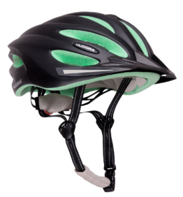 Hudora Fahrradhelm Basalt schwarz-grün
