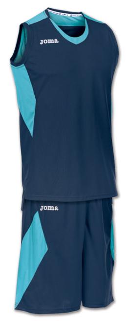 Joma Set Space Basketball Trikot-Set dunkelblau-türkis