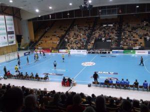 Die Sport- und Kongreßhalle in Schwerin: Spielstätte der Mecklenburger Stiere Schwerin. Foto: M.M.