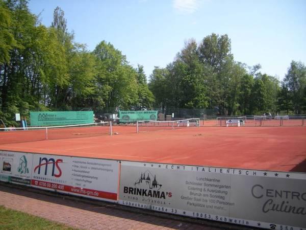 Tennisplatz in Schwerin am Franzosenweg. Foto: Michels