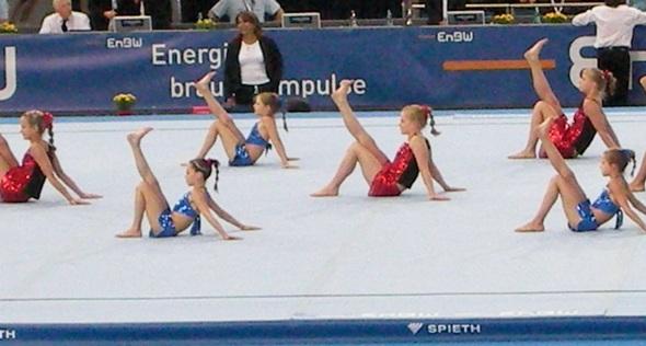 Ganz weltmeisterlich: Gymnastik mit Rhythmus