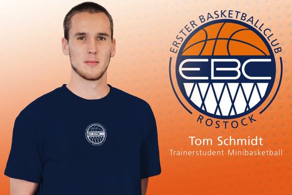Tom Schmidt neuer Trainerstudent für Minibasketball