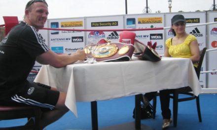 Blick zum Profi-Boxsport