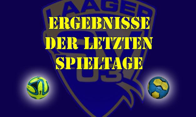 Laager SV 03 – Ergebnisse der letzten Spieltage