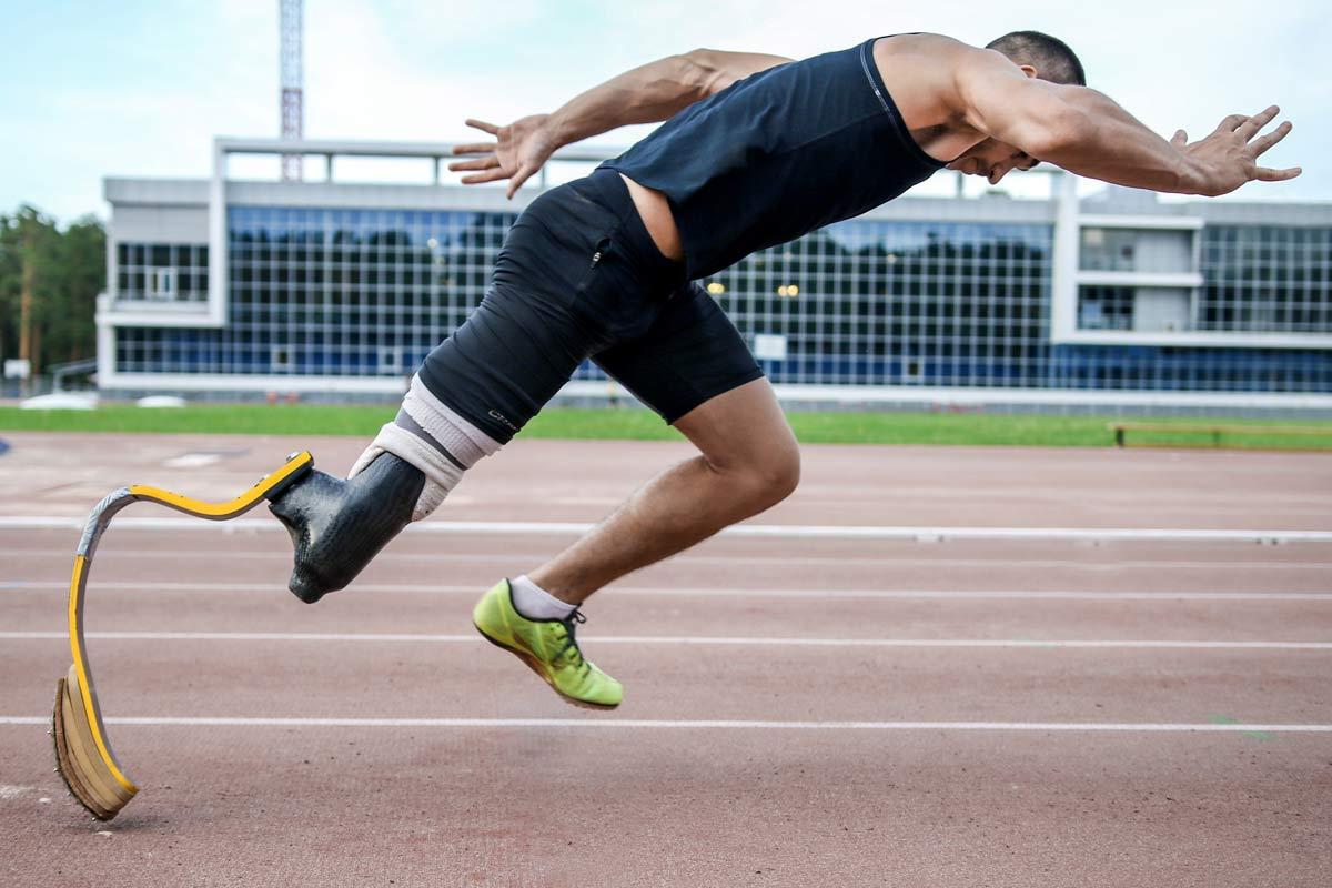 Para-Leichtathlet beim Sprint
