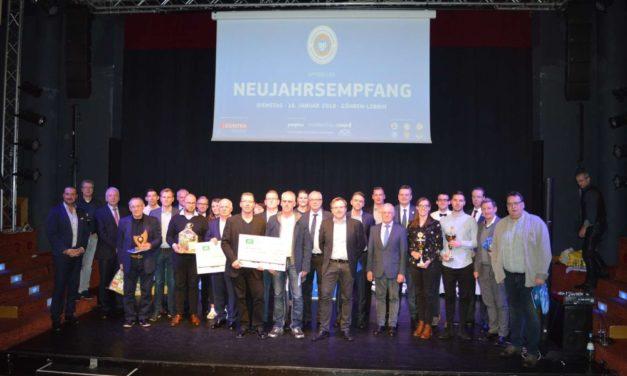 Preisverleihungen auf dem Neujahrsempfang des Landesfußballverbandes