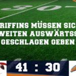 Griffins verlieren hart umkämpftes Spiel in Solingen