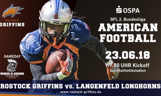 Griffins empfangen Longhorns zum Rückspiel