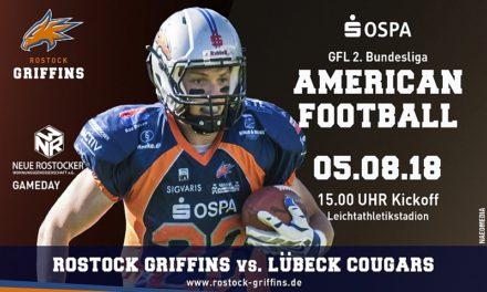 Griffins starten gegen Lübeck in die Rückrunde