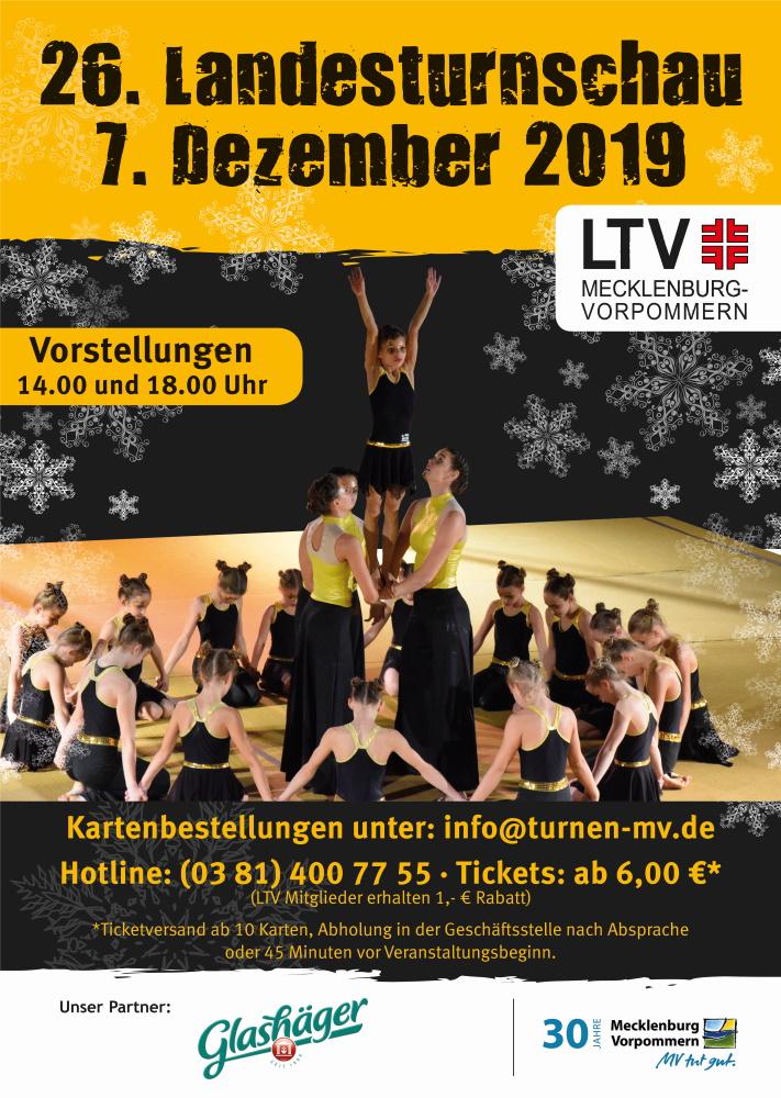 Landesturnschau 2019 in Rostock | Plakat (c) Landesturnerverband