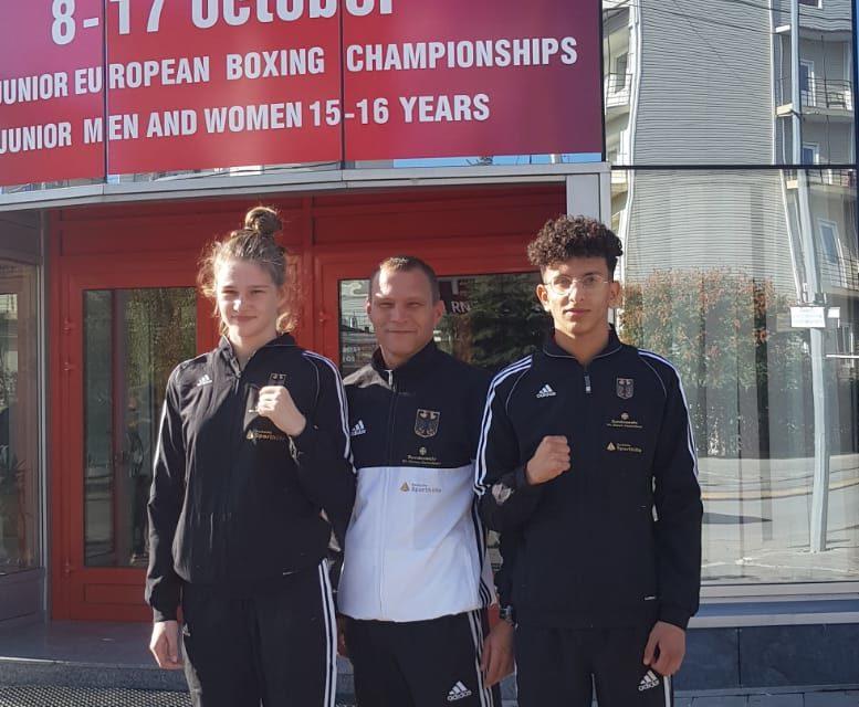 Finja Bree und Sadek Lazem bei der Junioren-Europameisterschaft in Anapa/Russland
