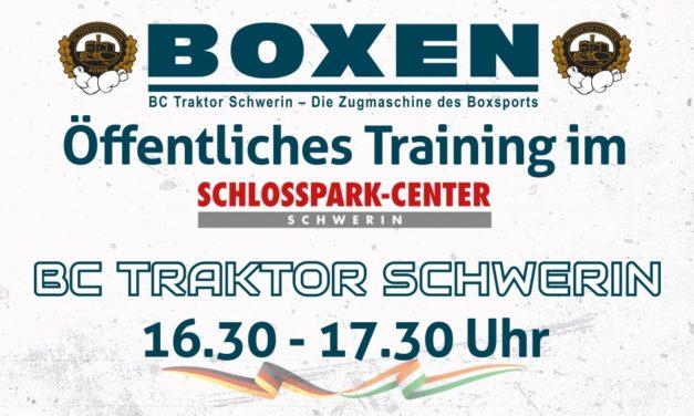Öffentliches Training im Schlosspark Center Schwerin