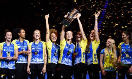 Werbung für den Volleyballsport: Schwerin verteidigt comdirect Supercup-Titel