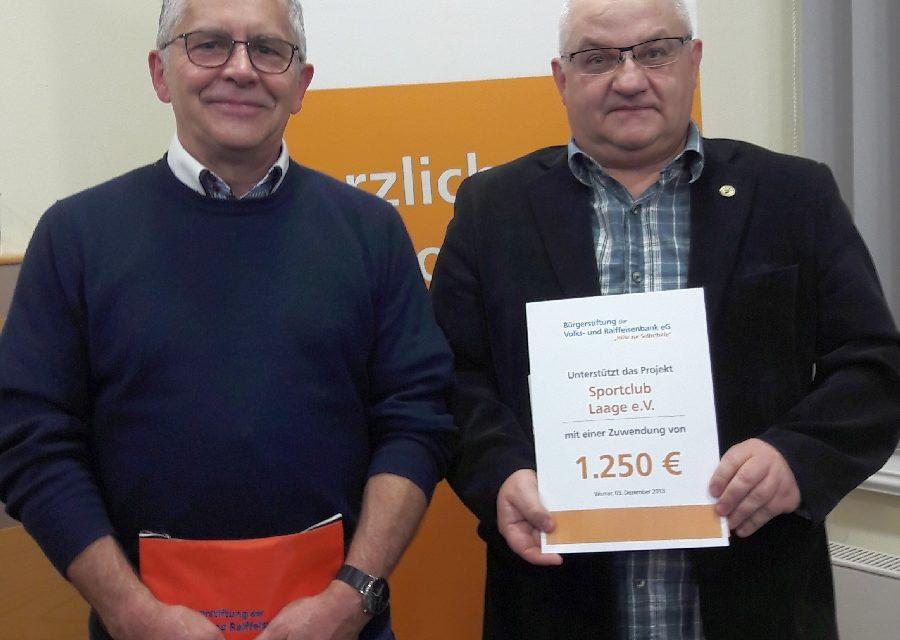 Stiftung überrascht den SC Laage