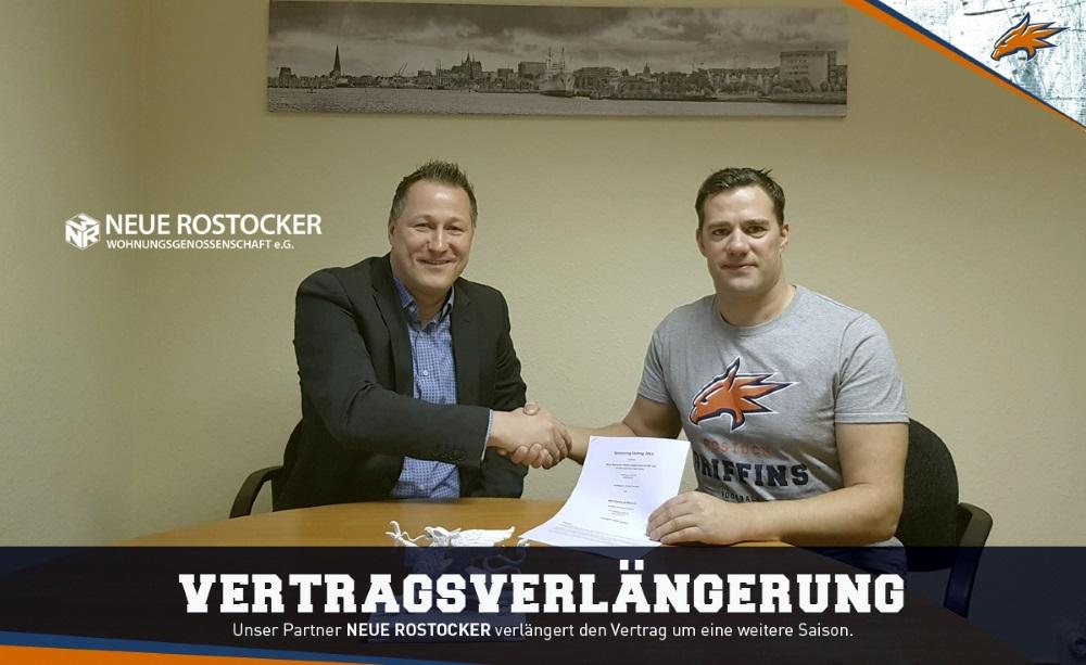 Neue Rostocker Wohnungsgenossenschaft e.G. verlängert Griffins Partnerschaft