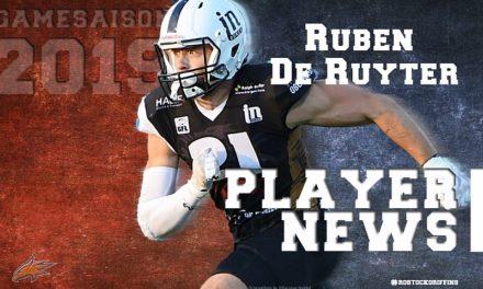 Ruben de Ruyter für die Griffins!