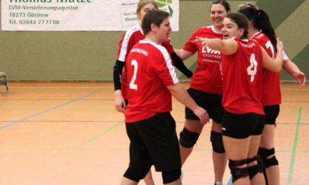 3 weitere Punkte für die Volleyball-Damen des SC Laage e.V. in der Landesklasse Ost