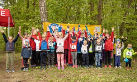 Kindergartenkinder liefen im Stadtwald um die Wette