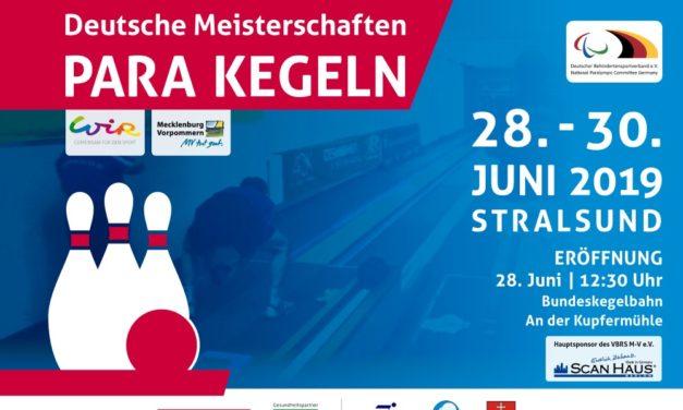 36. Deutsche Meisterschaften Para Kegeln / Bohle in Stralsund