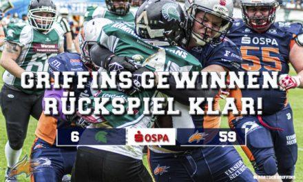 Griffins dominieren Hitzeschlacht in Hannover!
