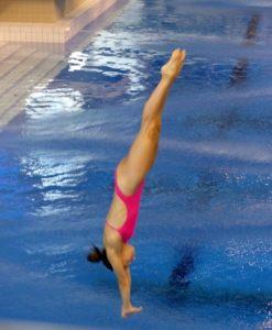 Wasserspringerin Anna Shyrykhay in Aktion. Foto: Monika Dietrich