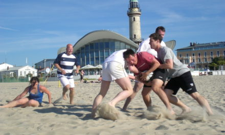 Universität Rostock veranstaltet nationales Beachrugby-Turnier