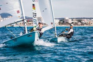 Philipp Buhl und Nik Aron Willim beim Training vor Mallorca. Foto: DSV/Lars Wehrmann