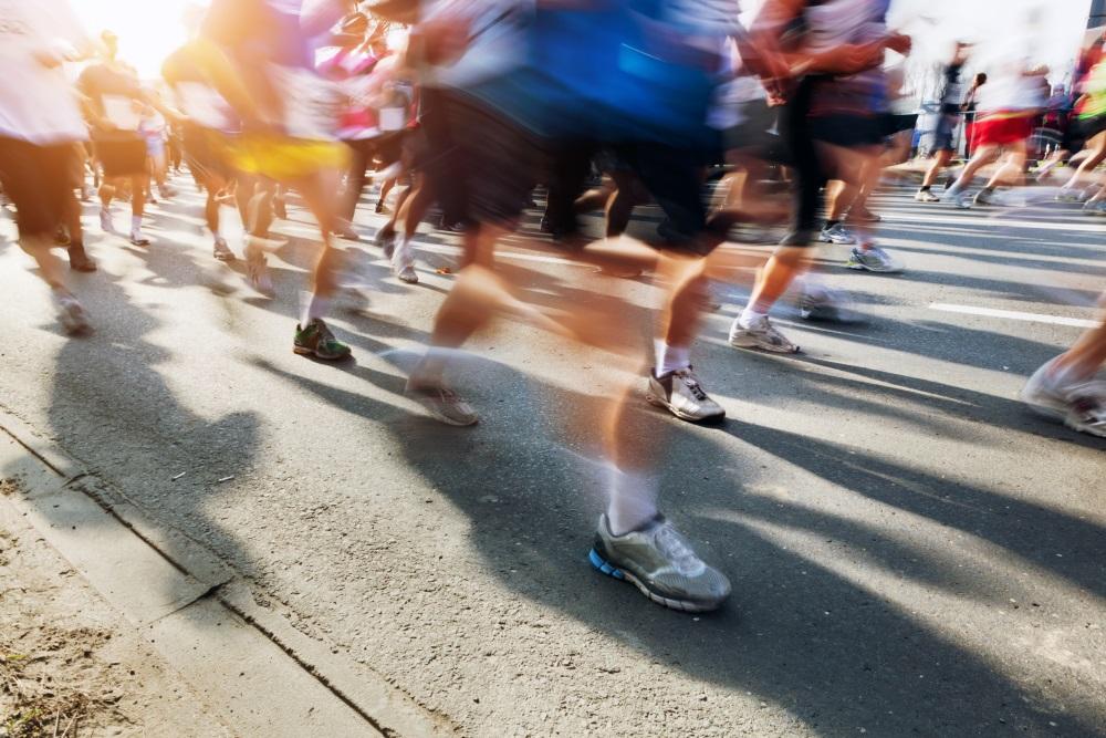Teilnehmer an einem Marathon