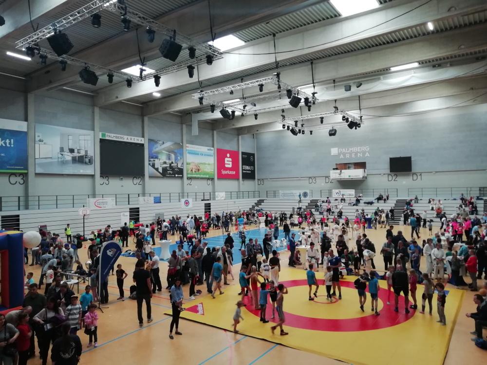 beneFIT Schwerin 2019 in der Palmberg-Arena Schwerin | 500 Kinder probierten sich aus | (c) Wirtschaftsjunioren