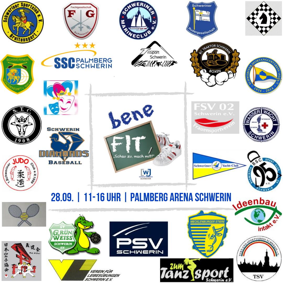 28 Sportvereine aus Schwerin präsentierten sich beim beneFIT 2019 | (c) Wirtschaftsjunioren