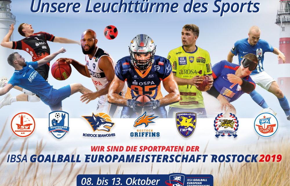 """Rostocks """"Leuchttürme"""" sind Paten der Goalball-EM"""