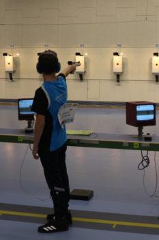 Theuerkauf (SV 'Vier Tore') mit der Luftpistole bei den Deutschen Meisterschaften in München | Sportschießen Neubrandenburg