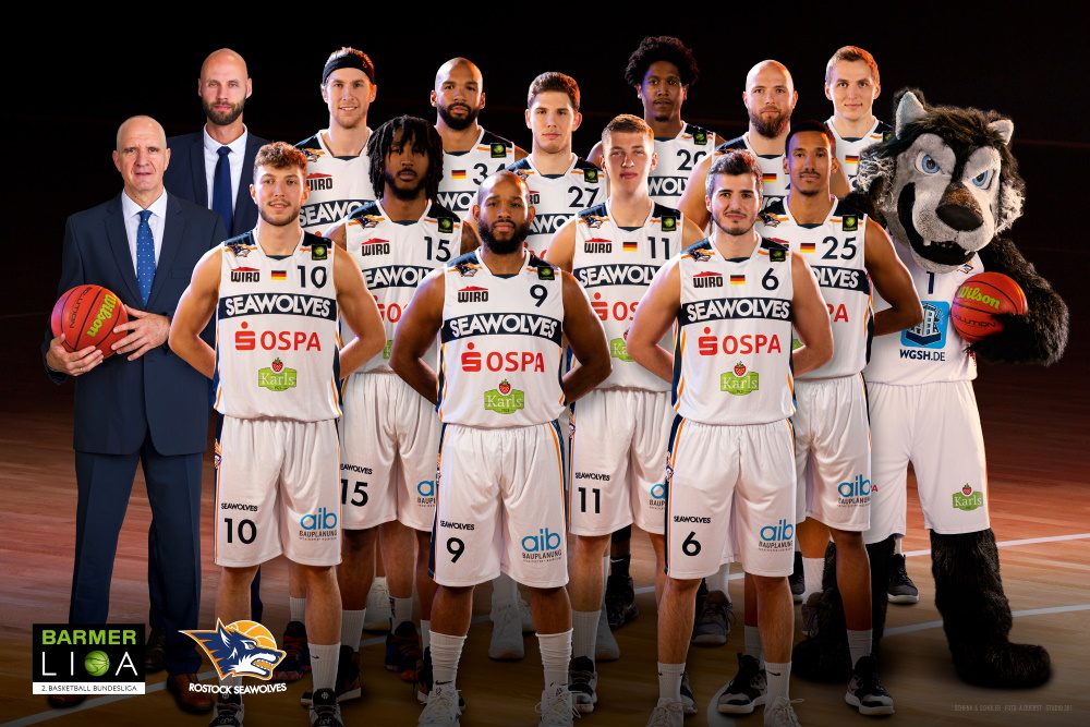 Team der der ROSTOCK SEAWOLVES in der Saison 2019/20