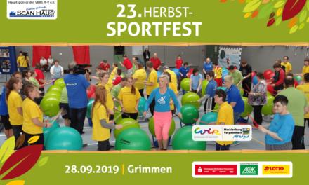 Bewegungsangebote für Jedermann beim 23. HerbstSportfest in Grimmen