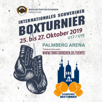 Plakat Internationales Schweriner Boxturnier