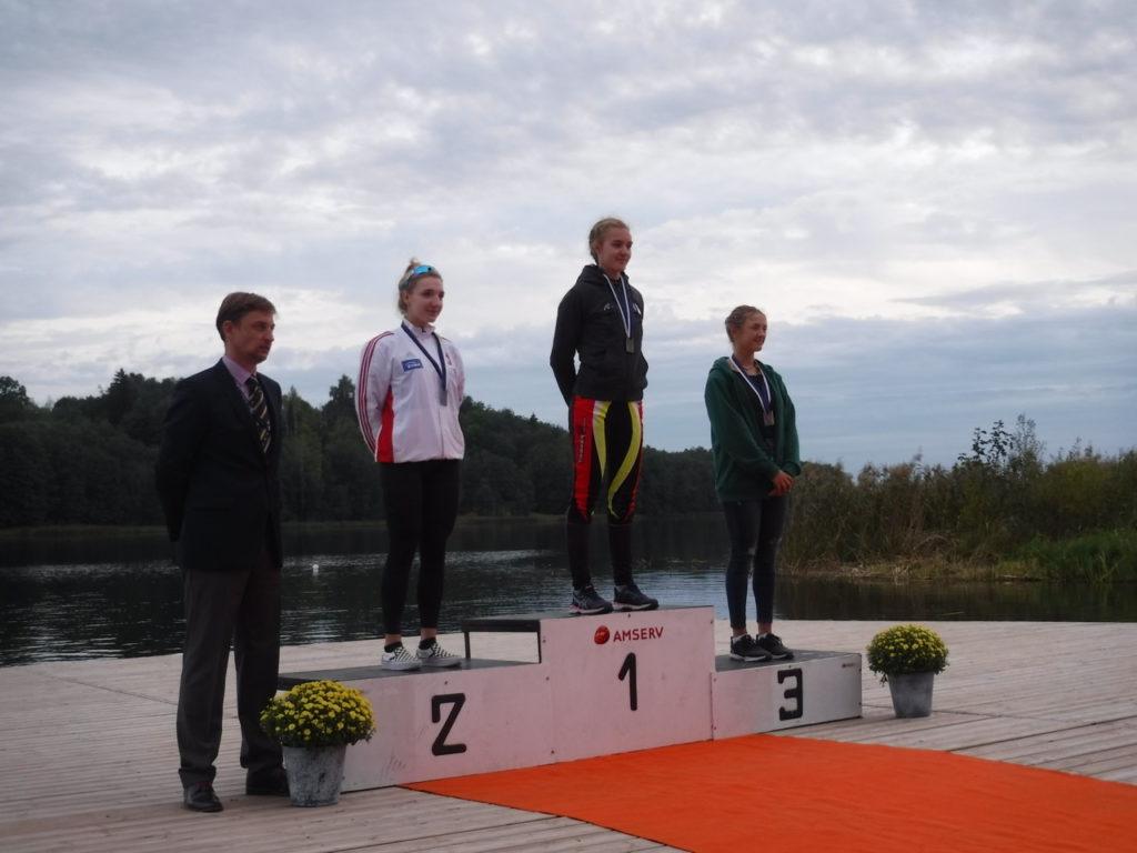 Holte in Viljandi Gold über die 2.000 Meter: Aurelia-Maxima Janzen. Foto: Rostocker Ruderclub