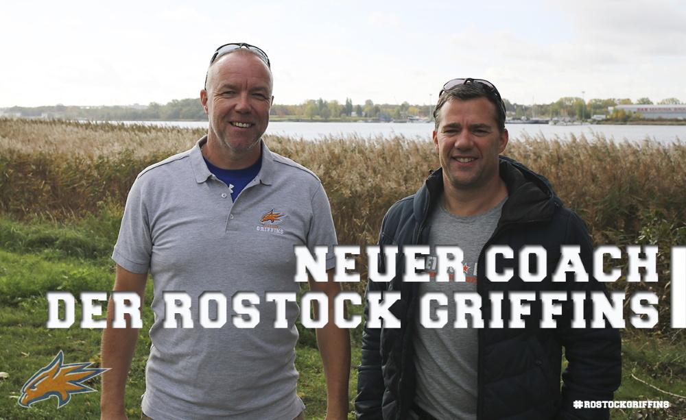 Headcoach Markus Grahn (links) zusammen mit Griffins-Manager Jens Putzier. Foto: Griffins Media Team
