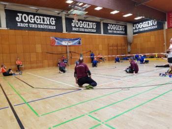 Abschiedsturnier der TSG Söflingen 1864 - Die Neubrandenburger Sitzballmannschaft in Aktion. (Foto: FSVB NB)