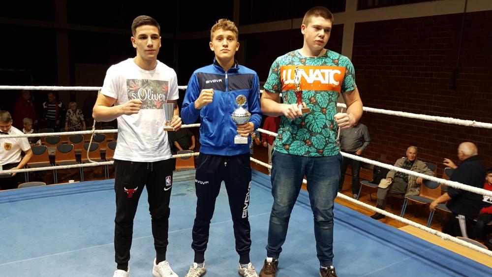 Die Pokalgewinner - Agasi Margayan, John Himmelspach, Jakub Domurat (v.l.)
