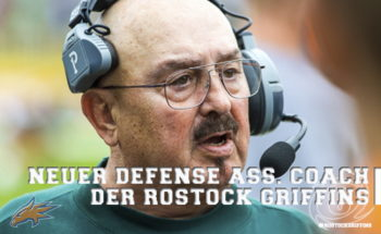 Neu im Trainer-Team der Rostock Griffins: Defensive Assistant Coach Joe Roman