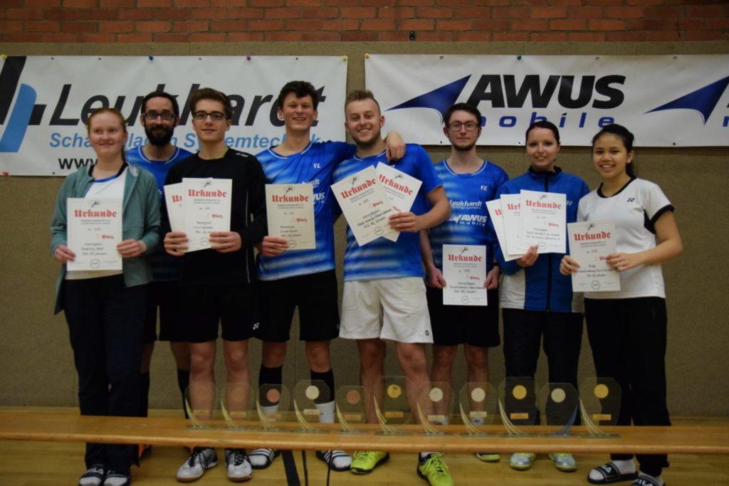 Die Akteure des BSC 95 Schwerin konnten auf der Landeseinzelmeisterschaft O19 zwei Titel sowie mehrere zweite und dritte Plätze holen. Foto: BSC 95 Schwerin