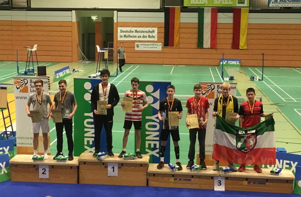 Badminton DM U15 in Mühlheim an der Ruhr | Deutsche Fizemeister wurden Wiechmann (Schwerin) und Tilch (Hamburg)