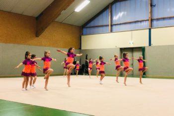 Die jüngsten Sportgymnastinnen des FSV Bentwisch beim sportlichen Jahresausklang. Foto: Verein