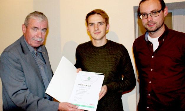 Junger Ehrenamtler aus Lübz ausgezeichnet